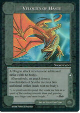 MIDDLE EARTH THE DRAGONS RARE CARD VELOCITY OF HASTE