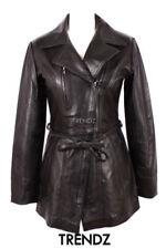 Manteaux et vestes trench-coats, impers noirs en cuir pour femme