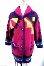Geiger Austria Boiled Wool Duffle Coat Matching Scarf Pink Purple 40 10  M L