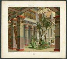 VINTAGE 1800's Color Costume Plate, Fashions of Egypt, Fashion, Design, 008