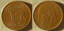 Norway : 1964 5 Ore AU #405 IR9198