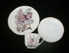 Lilac Fairy Teacup & Plate Set for Children Reutter Porcelain 75.534/4 3pc