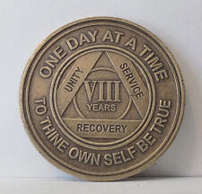 Alcoholic 8 Year Recovery -One Day Chip-Medallion Coin Medal Token  AA Anonymous