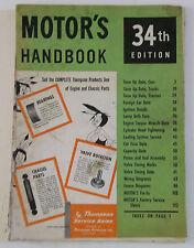 1957 Motor's Handbook 34th Edition (Thompson Products, inc.)