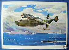 Russian ANTISUBMARINE  AIRPLANE  Picture Postcard 1973