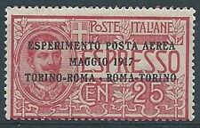 1917 REGNO POSTA AEREA  ROMA TORINO MNH ** - RR3271