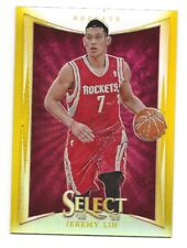 2012-13 Select Gold Refractor Jeremy Lin Rockets /10 SSP
