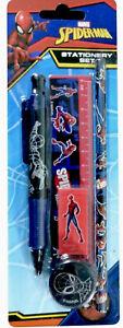 Marvel Spider-Man Stationery Set - Pen, Pencil, Ruler, Eraser & Pencil Sharpener