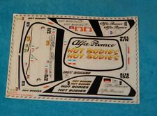 Vintage HPI RACING LOGO DECAL ALFA ROMEO R/C car stickers kit decals RS4 10709 D