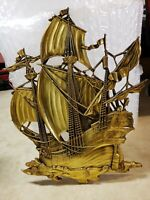 Vintage Nautical Large Pirate Ship With Dolphin