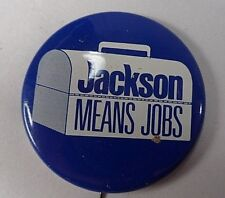 Henry Scoop Jackson Means Jobs Labor Union Made Lunchbox Political Button Pin
