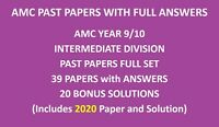 Year / Grade 9 and 10 Papers including 2020