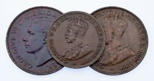 1919-1951 Australia Half Penny & Penny Lot (3 coins) KM# 22, 23, 43