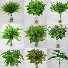 Artificial plants flowers for sale ebay artificial plants fake leaf foliage bush home office garden flower wedding decor mightylinksfo