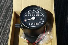 HONDA BLACK Mini SPEEDO & TRIP METER  gauge Speedometer Suzuki Yamaha CB CB750