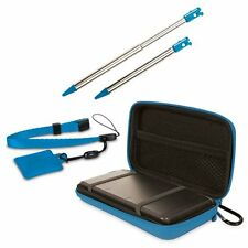 NEW Blue Nintendo Old 3DS 4 in 1 Case Pack Accessory Pack - Stylus, Case, Strap