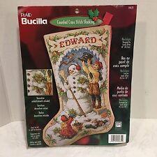 Rare Bucilla Christmas Cross Stitch Stocking Kit Nostalgia #84635- Sandy Orton