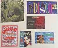 Vintage RAVE Flyers DISCO, THE DEEP, DAKOTA, BASIC, BRASILIA, BELIEVE  (LOT 122)