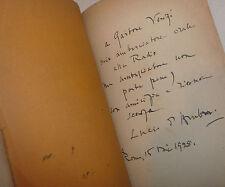 Lucio D'Ambra: PENELOPE DEI GIORNI NOSTRI 1929 Ceschina, dedica autore a Venzi