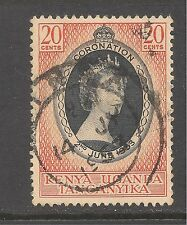 K.U.T. #101 (CD312) VF USED - 1953 20c Queen Elizabeth II Coronation Issue