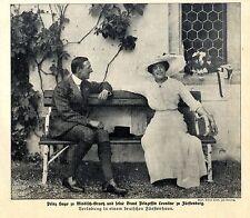Prinz Hugo zu Windisch-Graetz & Braut Prinzessin Leontine zu Fürstenberg c.1912