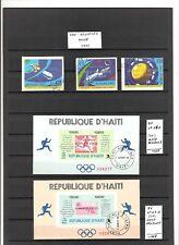 N°421 - HAITI - ( 1968-71) - blocs et feuillets et timbres oblitérés