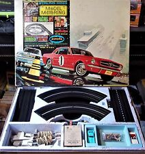 AURORA MoDEL MoToRING T-JET #1672 2 LANE 20 PC HO Slot Car Track Set 2 Cars TYCO