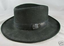 Bailey Wind River Hat Black Outback Fedora 100% Wool Made in USA Size XL