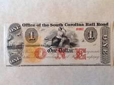 - United States 18xx Office of the South Carolina Railroad - Charleston Unc.