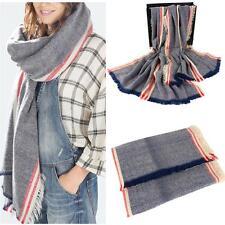 Soft Warm Plaid Checked Pashmina Shawl Blanket Wrap Oversized Scarf
