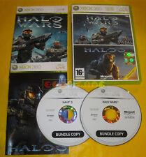 HALO WARS + HALO 3 XBOX 360 Versione Italiana Bundle »»»»» COMPLETO
