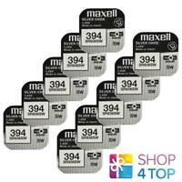 10 Maxell 394 380 SR936SW Piles Argent 1.55V Montre Batterie Exp 2022 Neuf
