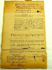 1783 Bond to Pay Abraham Peterson William Baynard of New York