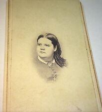 Rare Antique American Civil War Era Heavy Set Lovey Woman! New York CDV Photo!