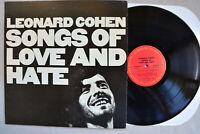 LEONARD COHEN~Songs Of Love & Hate~Columbia Records C-30103 1° Vinyl LP 1971 VG+