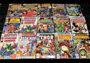 Lot of 10 Vintage Marvel Comics, 1970-1985, Very Fine Condition, Grab Bag!