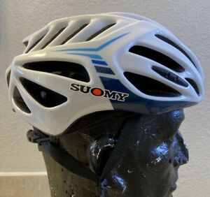 Suomy Timeless Bicycle Helmet - Size Large - White/Blue
