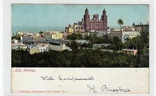 LAS PALMAS: Canary Islands postcard with LIVERPOOL PACKET postmark (C27823)