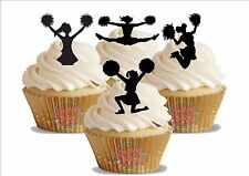 Novelty Black Cheerleader Mix Edible Cake Toppers Decorations Cupcakes American