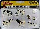 HO Scale Model Railroad Trains Woodland Scenics Holstein Cow Animal Figures 1863