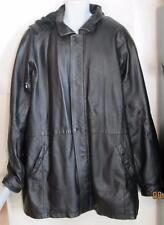 Charles Klein mens sz 3XLT 3X Long Tall black Leather coat heavy warm hu