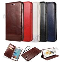 Luxury New Folio Leather Wallet Case Magnetic Flip Cover Stand For iPhone Series