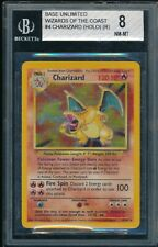 BGS 8 CHARIZARD 1999 Pokemon Base Unlimited #4/102 Holo Non-Shadowless NM-MINT