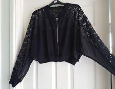 Ladies oversized jacket Tokyo Doll biker silk n lace style 14