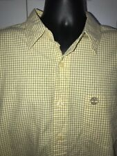 Timberland Yellow Check Long Sleeve Button Front Shirt Size L