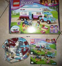 Lego 41125 Friends Horse Vet Trailer Van Veterinaire + Notice + Boite CNB82