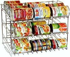 Can Food Organizer Storage 36 Cans Holder Kitchen Cabinet Pantry Shelf Rack New