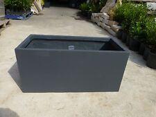 Rectangle Pots  Fibreglass Charcoal 800mm lgth x 390mm hgt x 370mmwdth  $95-ea