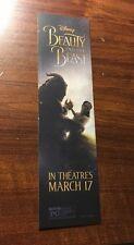 Disney Beauty and the Beast Live Action Movie Bookmark Emma Watson Dan Stevens