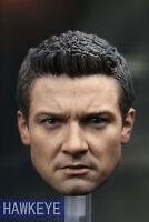 1:6 Hawkeye Male Head Sculpt Avengers Jeremy Renner Model Fit 12'' Action Figure